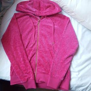 Juicy Couture pink cheetah hoodie